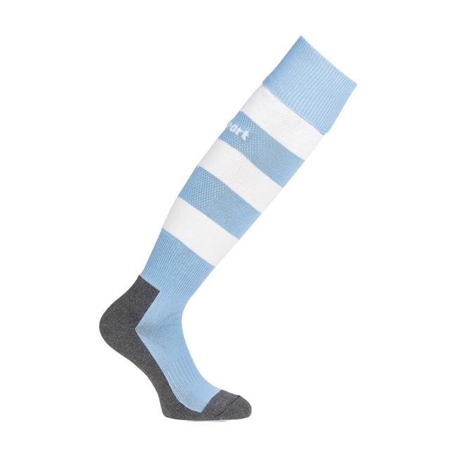 Chaussettes Uhlsport Team Pro Essential Stripe Bleu ciel Blanc 1006100
