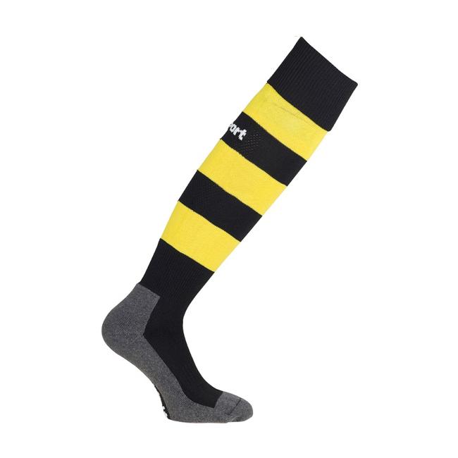 Chaussettes Uhlsport Team Pro Essential Stripe Noir Jaune citron 1006100