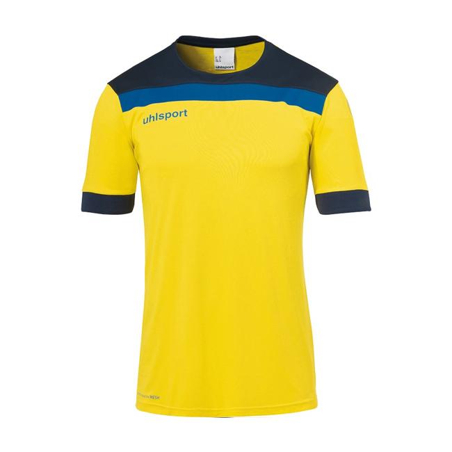 Maillot Uhlsport Offense 23 Jaune citron Bleu marine 1003804