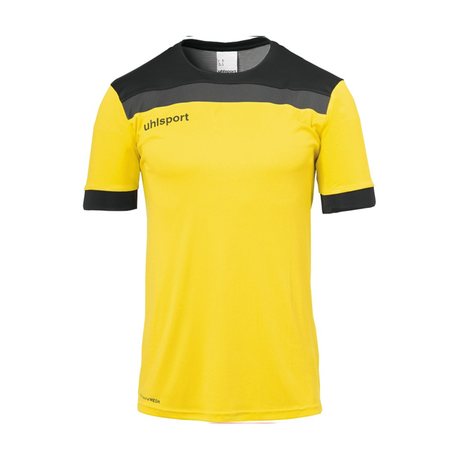 Maillot Uhlsport Offense 23 Jaune citron Noir 1003804
