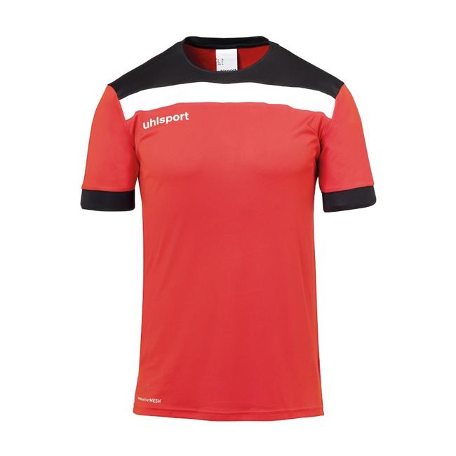 Maillot Uhlsport Offense 23 Rouge Noir Blanc 1003804