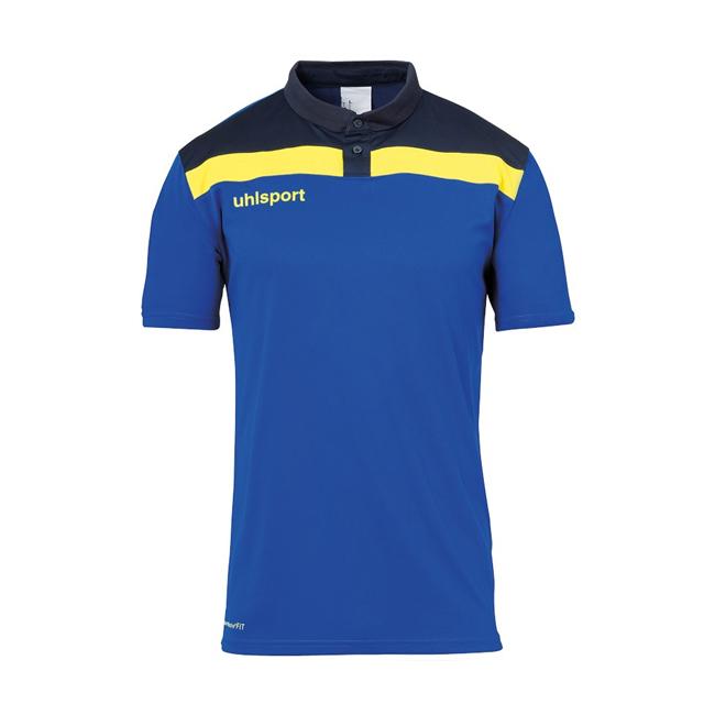 Polo Uhlsport Offense 23 Bleu azur Jaune citron 1002213