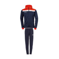 Survetement Uhlsport Offense 23 a capuche Bleu marine Rouge 1005199 1005149