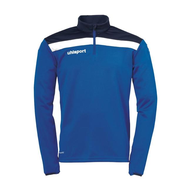 Sweat 1 4 zip Uhlsport Offense 23 Bleu azur Blanc 1002212
