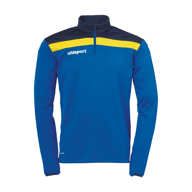 Sweat 1 4 zip Uhlsport Offense 23 Bleu azur Jaune citron 1002212
