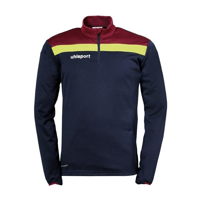 Sweat 1 4 zip Uhlsport Offense 23 Bleu marine Bordeaux 1002212