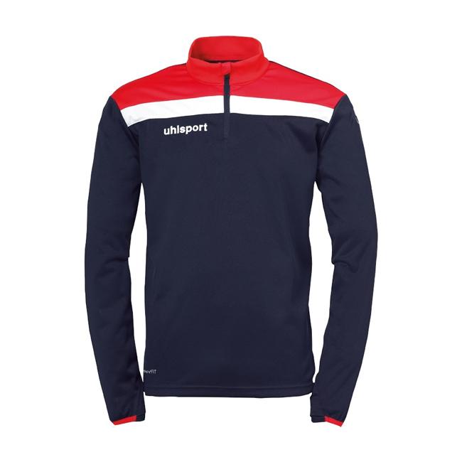 Sweat 1 4 zip Uhlsport Offense 23 Bleu marine Rouge 1002212