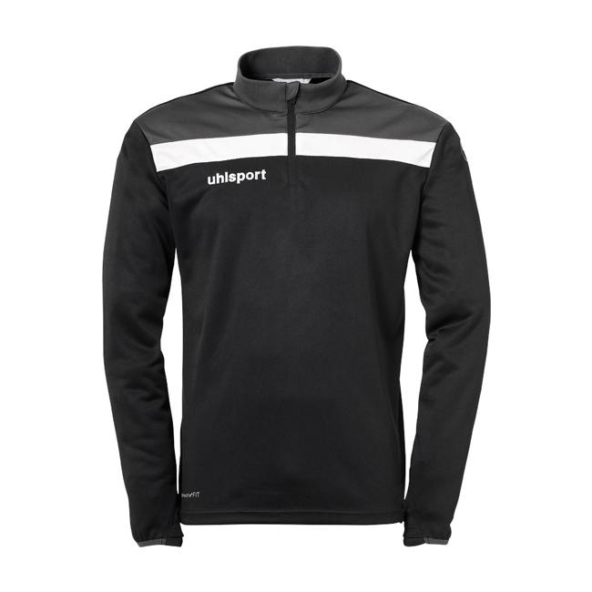 Sweat 1 4 zip Uhlsport Offense 23 Noir Blanc 1002212