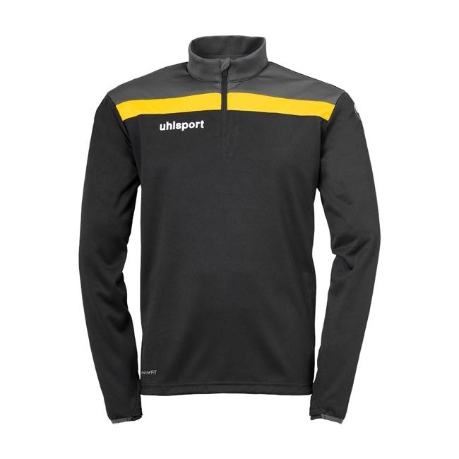 Sweat 1 4 zip Uhlsport Offense 23 Noir Jaune citron 1002212