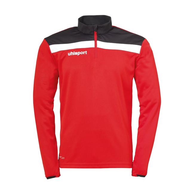 Sweat 1 4 zip Uhlsport Offense 23 Rouge Noir 1002212