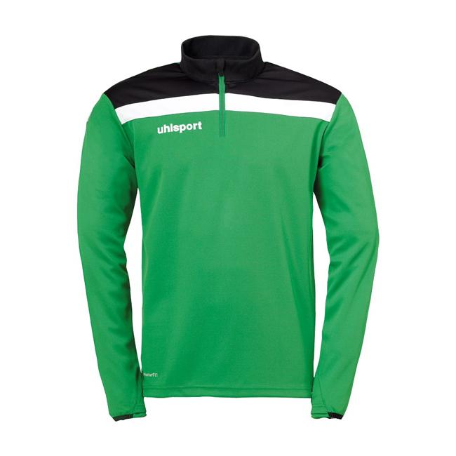 Sweat 1 4 zip Uhlsport Offense 23 Vert Noir 1002212