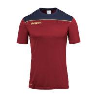 T-shirt d'entrainement Uhlsport Offense 23 Poly Bordeaux Bleu marine 1002214