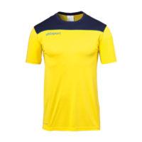 T-shirt d'entrainement Uhlsport Offense 23 Poly Jaune citron Bleu marine 1002214
