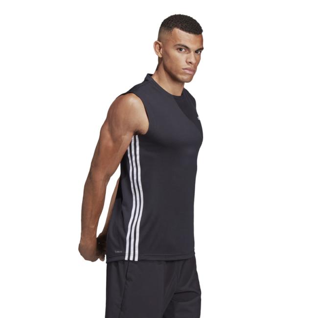 Tee-Shirt-ADIDAS-2-Move-sans-manches-noir-DT3047-cote