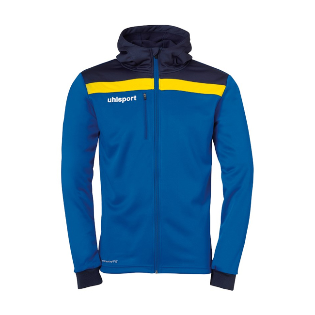 Veste a capuche Uhlsport Offense 23 Bleu azur Bleu marine Jaune citron 1005199