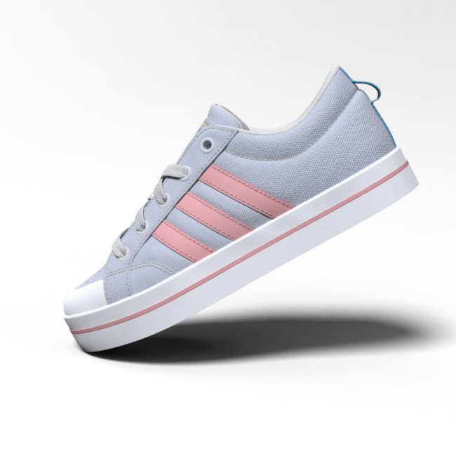 chaussure-adidas-bravada-femme-FV6533-gris-rose-cote
