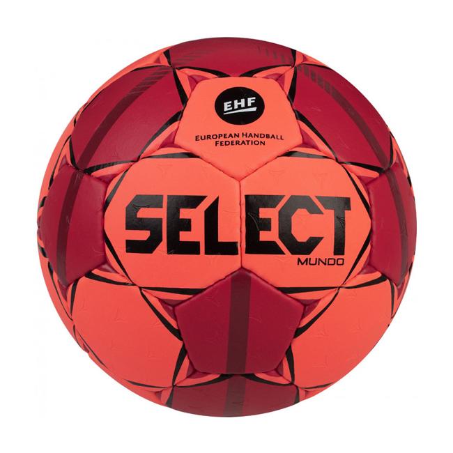 Ballon Handball Select Mundo V20 166x8xx663 Orange fluo Rouge