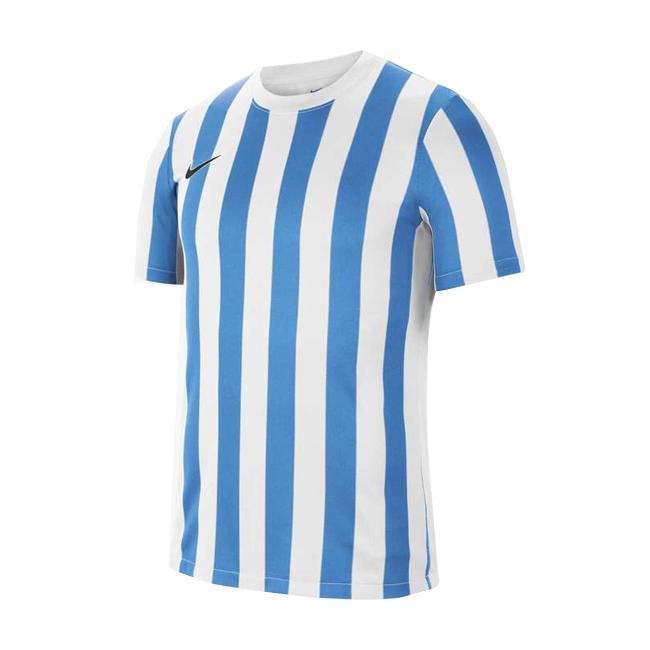 Maillot Nike Striped Division IV Blanc Bleu ciel CW3813-103