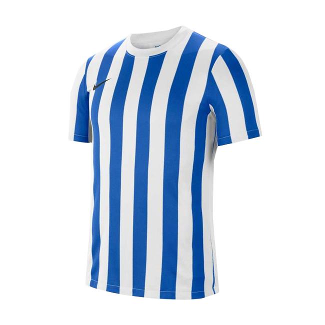 Maillot Nike Striped Division IV Blanc Bleu roi CW3813-102
