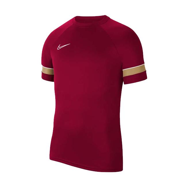 Maillot d'entrainement Nike Academy 21 Bordeaux Or CW6101-677