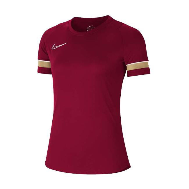 Maillot d'entrainement Nike Academy 21 Femme Bordeaux Or CV2627-677