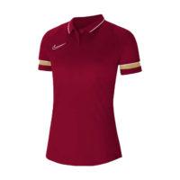 Polo Nike Academy 21 Femme Bordeaux Or CV2673-677