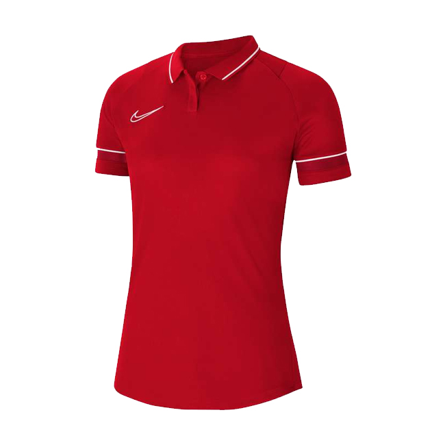 Polo Nike Academy 21 Femme Rouge Blanc CV2673-657