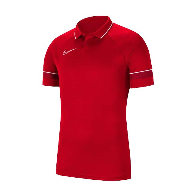 Polo Nike Academy 21 Rouge Blanc CW6104-657