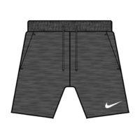 Short Nike Strike 21 Fleece Gris fonce Blanc CW6521-011