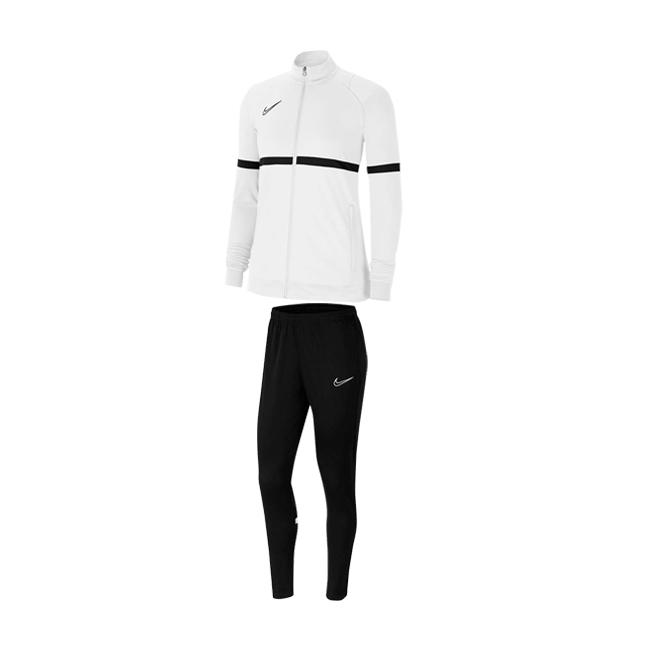Survetement Nike Academy 21 Femme Blanc Noir CV2677-100 CV2665-010