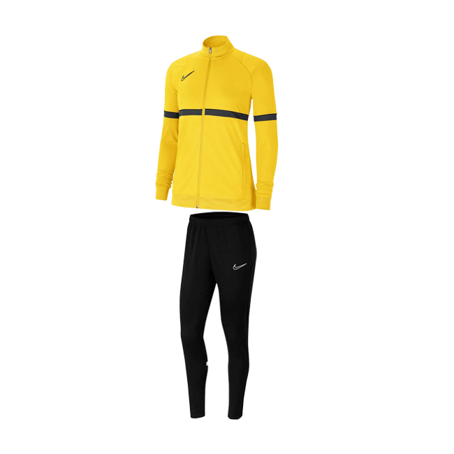 Survetement Nike Academy 21 Femme Jaune Noir CV2677-719 CV2665-010