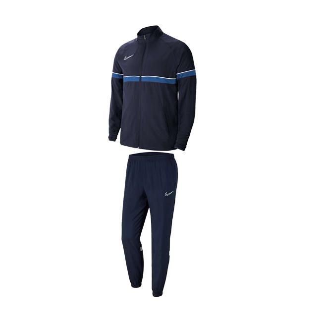 Survetement Woven Nike Academy 21 Bleu marine Bleu roi CW6118-453 CW6128-010