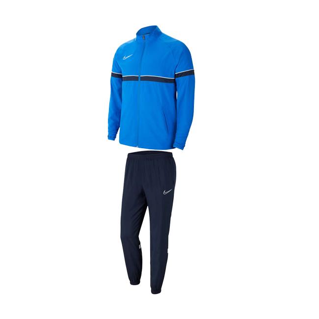 Survetement Woven Nike Academy 21 Bleu roi Bleu marine CW6118-463 CW6128-451