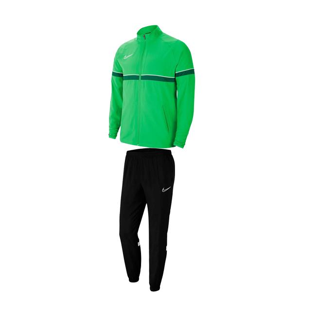 Survetement Woven Nike Academy 21 Vert Blanc. CW6118-362 CW6128-010