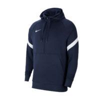 Sweat a capuche demi zip Nike Strike 21 Fleece Bleu marine Blanc CW6311-451