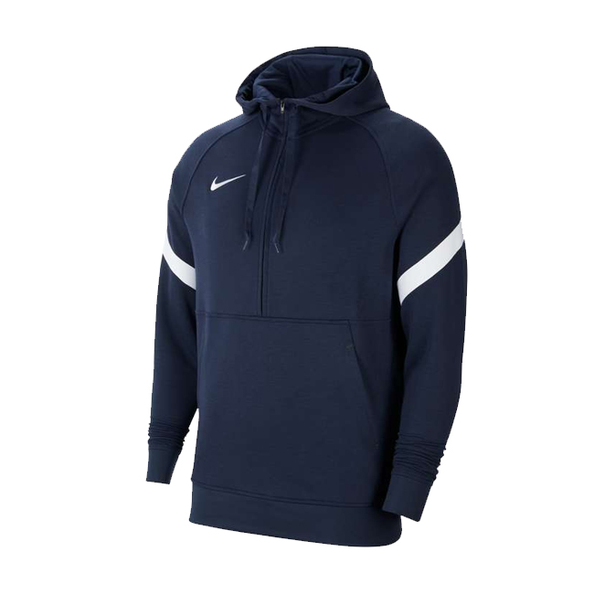 Sweat a capuche demi zip Nike Strike 21 Fleece Bleu marine Blanc CW6311-451