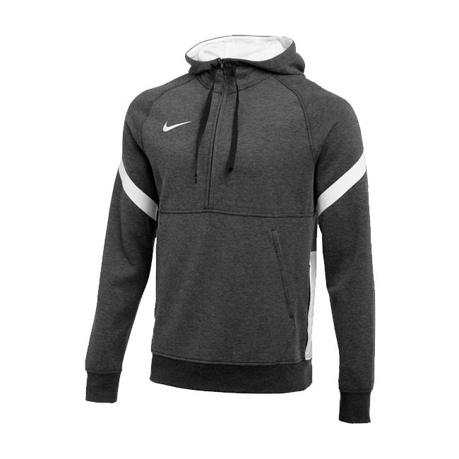 Sweat a capuche demi zip Nike Strike 21 Fleece Gris fonce Blanc CW6311-011