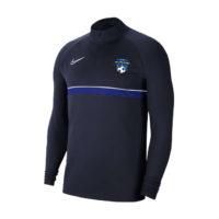 Sweat demi zip Nike Academy 21 Bois Colombes Futsal CW6110-453 CW6112-453