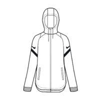 Veste d'entrainement Nike Strike 21 Femme Blanc Noir CW6098-100