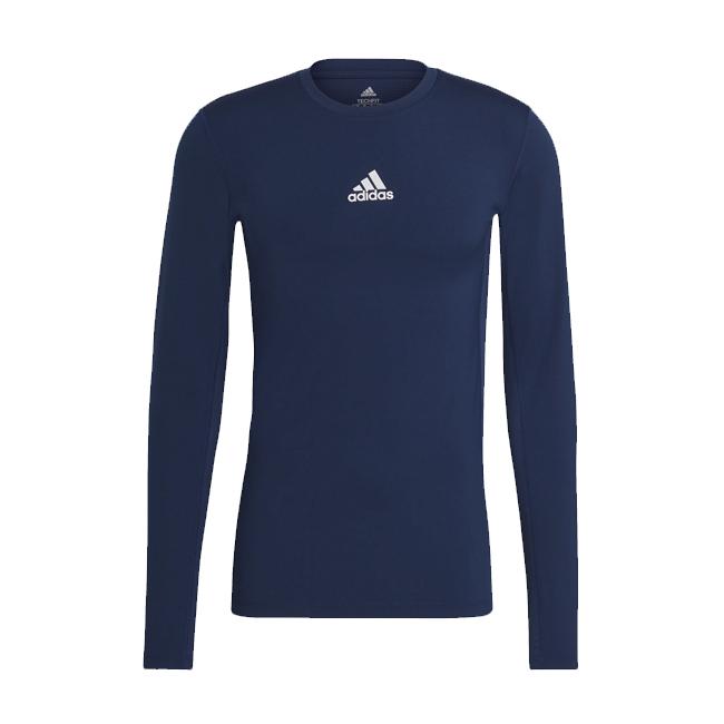 Sous maillot ADIDAS Tech Fit Climawarm Bleu marine Blanc H23125