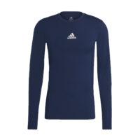 Sous maillot ADIDAS Tech Fit Long Sleeves Bleu marine Blanc GU7338 H23153