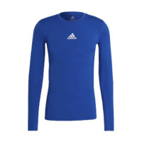 Sous maillot ADIDAS Tech Fit Long Sleeves Bleu roi Blanc GU7335 H23155