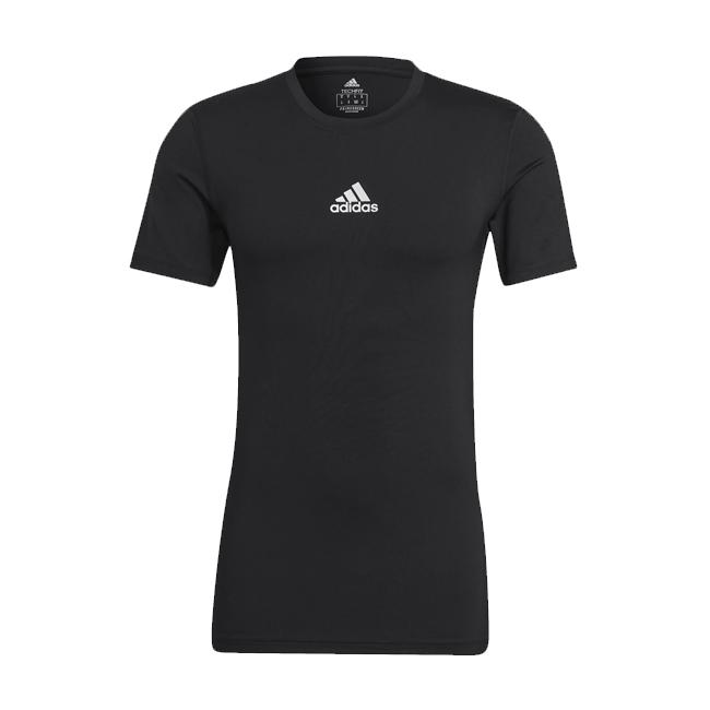 Sous maillot ADIDAS Tech Fit Short Sleeves Noir Blanc GU4906