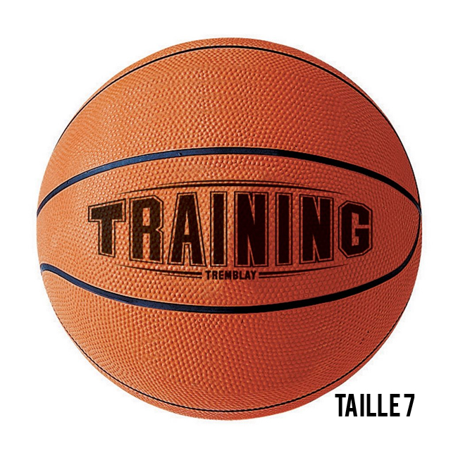 Ballon de Basket caoutchouc no 7 - TRAINING Tremblay BTR7