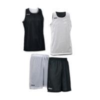 Tenue complete basket reversible Joma Aro 100050 100529 100 Noir Blanc