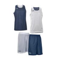 Tenue complete basket reversible Joma Aro 100050 100529 300 Marine Blanc