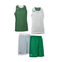 Tenue complete basket reversible Joma Aro 100050 100529 450 Vert Blanc