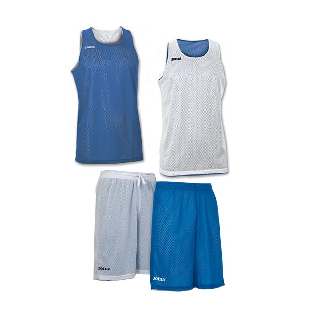 Tenue complete basket reversible Joma Aro 100050 100529 700 Bleu Blanc