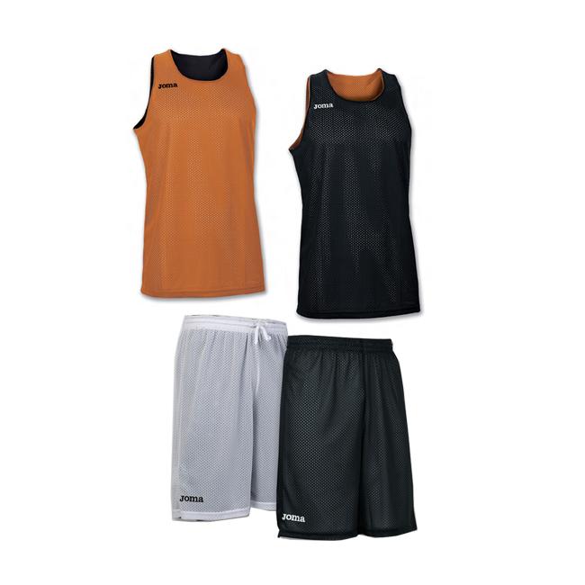 Tenue complete basket reversible Joma Aro 100050 100529 800 Orange Noir Blanc