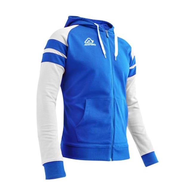 Veste a capuche coton Acerbis Kemari 0910238 430 Bleu royal Blanc